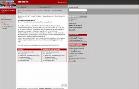 Online - Siemens Building Technologies, Extranet