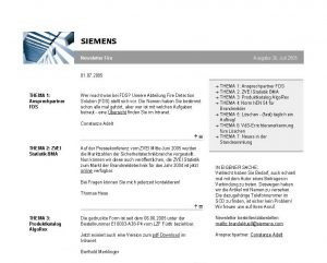 Online - Siemens Building Technologies, Newsletter Fire