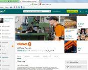 Unternehmensprofil, Beispiel Osram