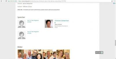 Event - Eingeschränkte Sichtbarkeit Sprecher für Nichtmitglieder