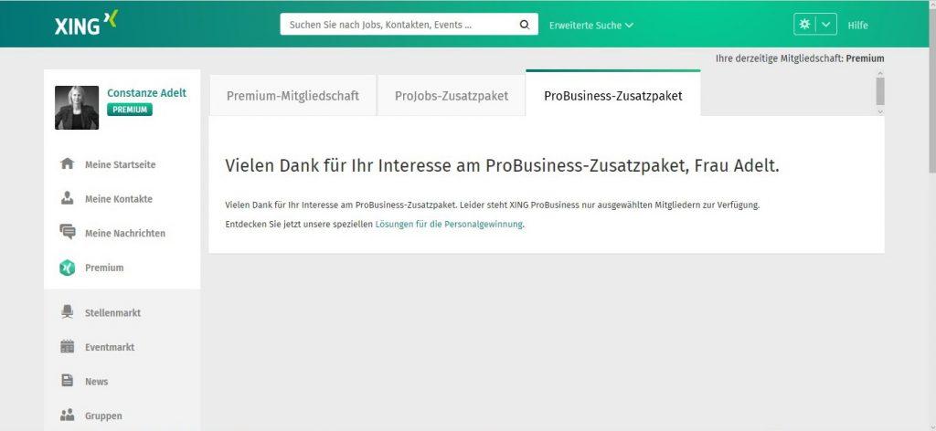 ProBusiness-Zusatzpaket, Bereitstellung