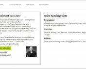 Coach-Profil - Rubriken, Über mich