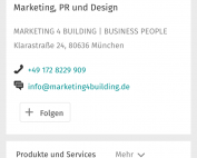 Business-Seite - Optimierte Darstellung mobile Endgeräte