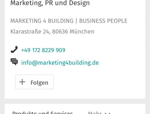 Business-Seite: Verbesserte Darstellung und Nutzung auf mobilen Endgeräten