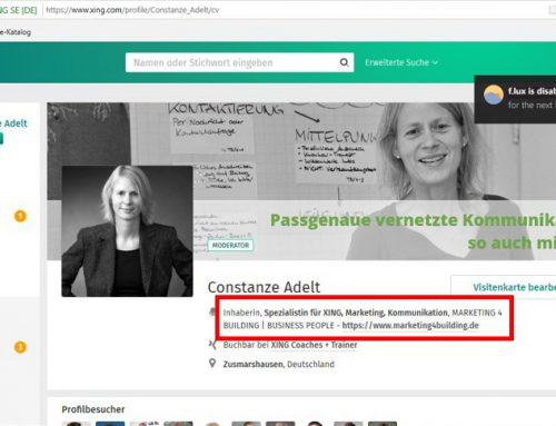 In Visitenkarte nun Link zu Webseite & Co möglich
