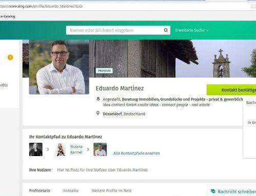 Veränderungen im Bereich Kontakte – Profil merken und Download vCard nur noch mit ProBusiness möglich
