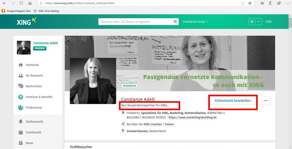 Visitenkarte Archive Marketing 4 Building Business People