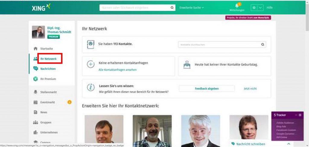 Ihr Netzwerk, früher Kontakte - Rollout erster Schritt