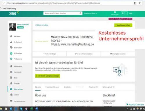 Unternehmensprofil – zusätzlicher Inhalt: Produkte und Services