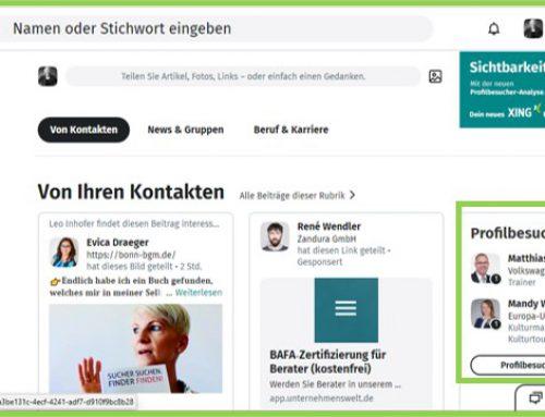 Profilbesucher & Statistiken – Startseite, Profil