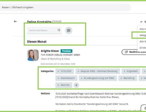 Kontaktkategorien – Veränderungen in der Festlegung