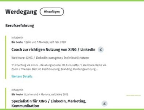 Werdegang im Persönlichen Profil: Wichtige Angaben, um auf XING besser gefunden zu werden